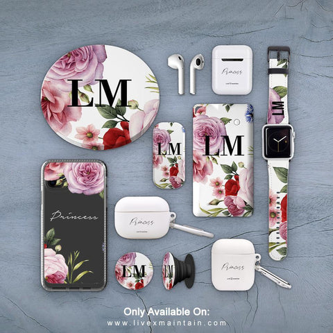Personalised Floral Blossom Phone Clear Case Accessories Package