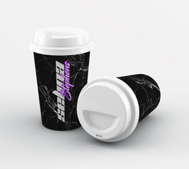 Personalised Neon Side Name Reusable Coffee Cup