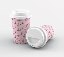 Personalised Script Name All Over Reusable Coffee Cup
