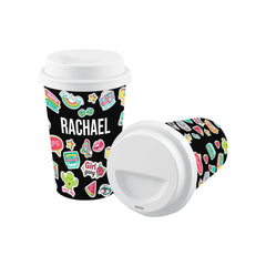 Personalised Sticker Name Reusable Coffee Cup