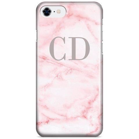 Personalised Cotton Candy Marble Initials iPhone 8 Case