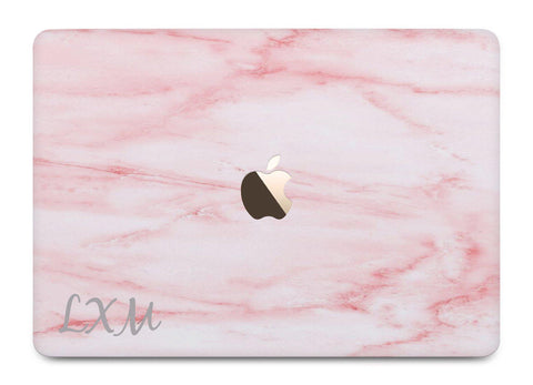 Personalised Cotton Candy Marble Initials MacBook Case