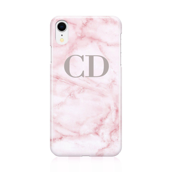 Personalised Cotton Candy Marble Initials iPhone XR Case