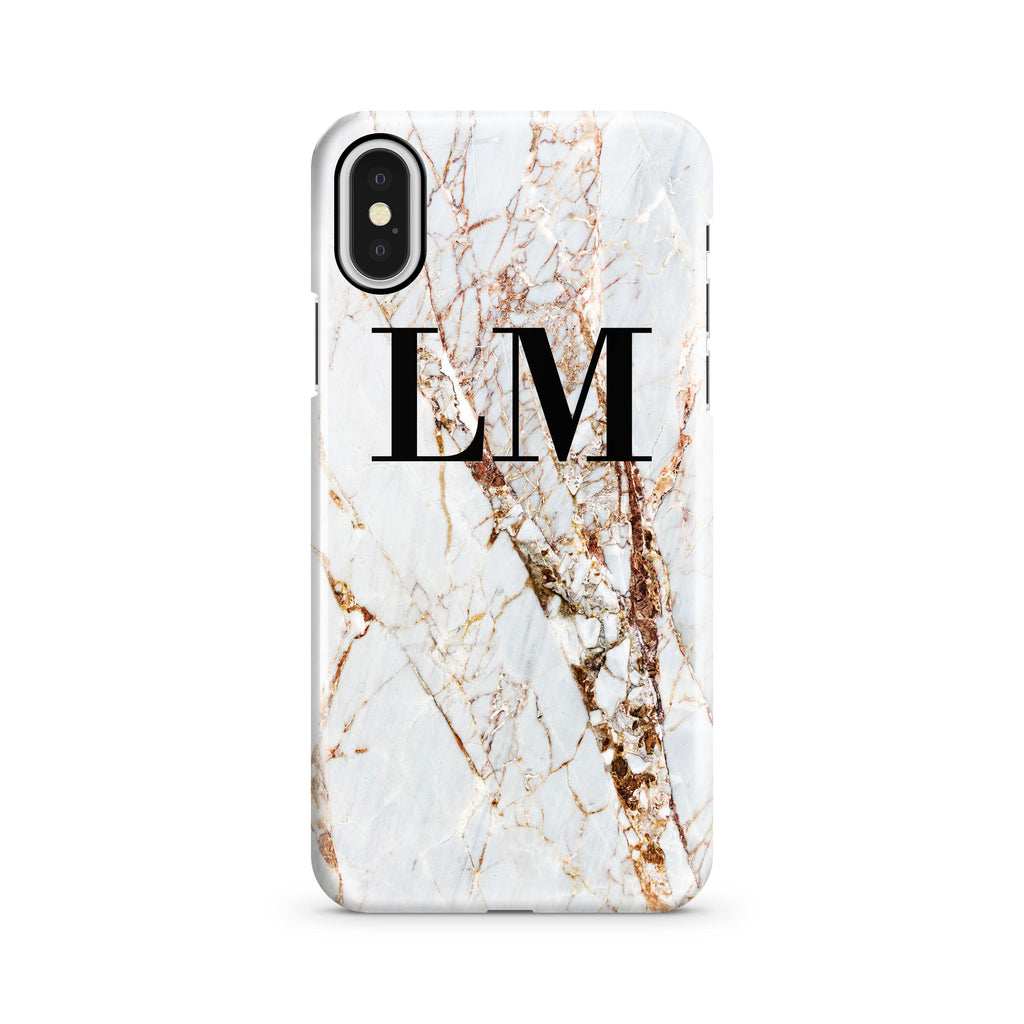 Personalised Cracked Marble iPhone X Case