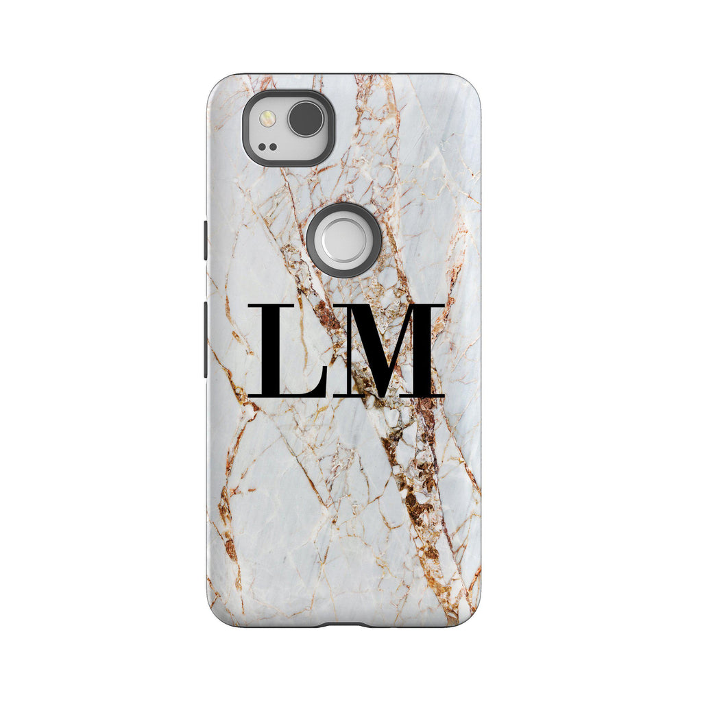 huge selection of e4e46 52ea3 Personalised Cracked Marble Google Pixel 2 Case