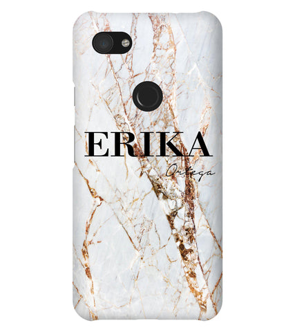 Personalised Cracked Marble Name Google Pixel 3a XL Case