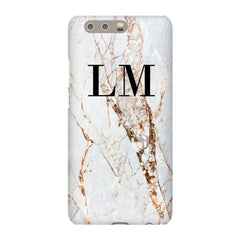 Personalised Cracked Marble Initials Huawei P10 Plus Case