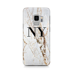 Personalised Cracked Marble Initials Samsung Galaxy S9 Case