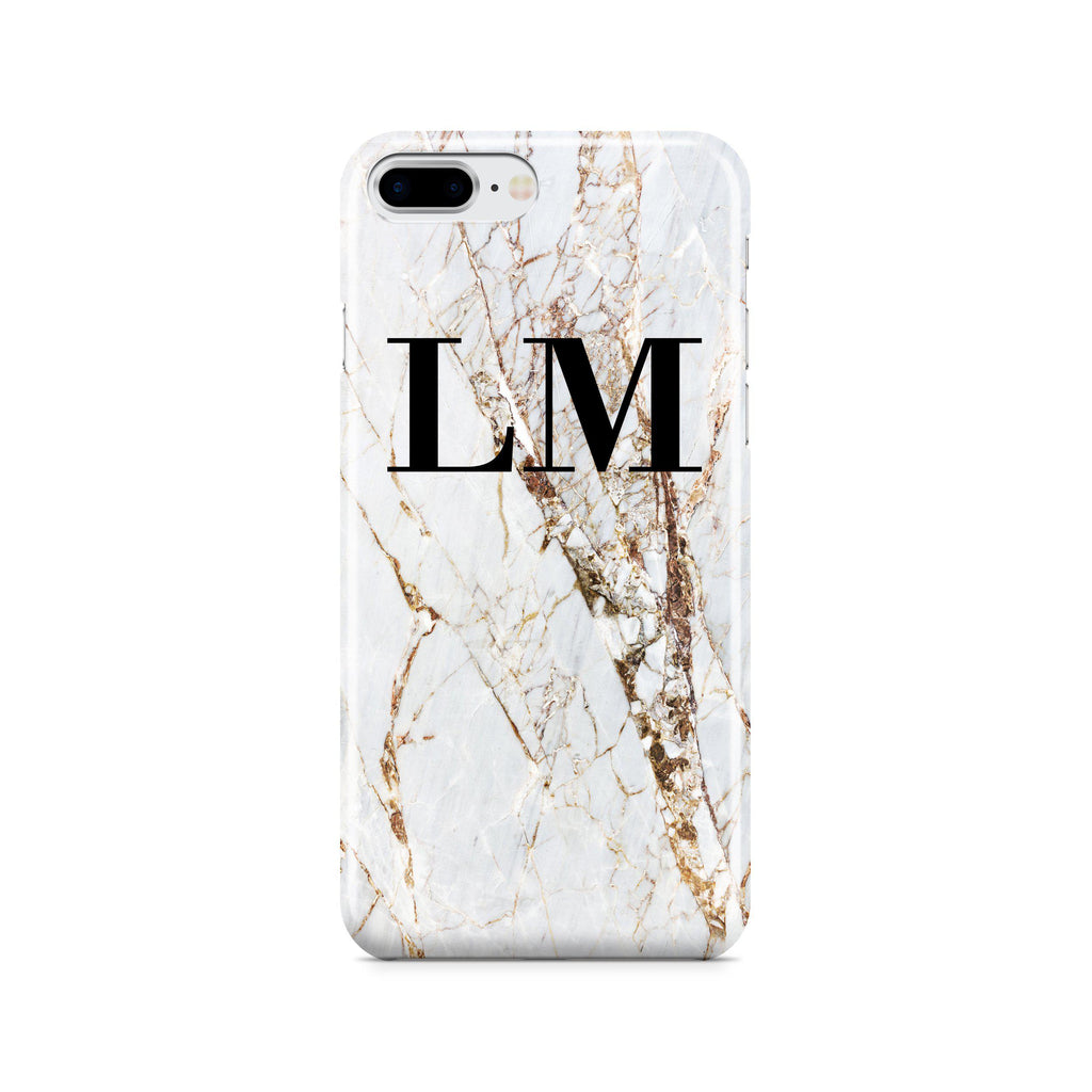 Personalised Cracked Marble Initials iPhone 7 Plus Case