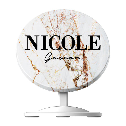 Personalised Cracked Marble Name Wireless Charger