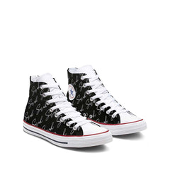 Custom White Script Name All Over Converse Chuck Taylor All Star High Top