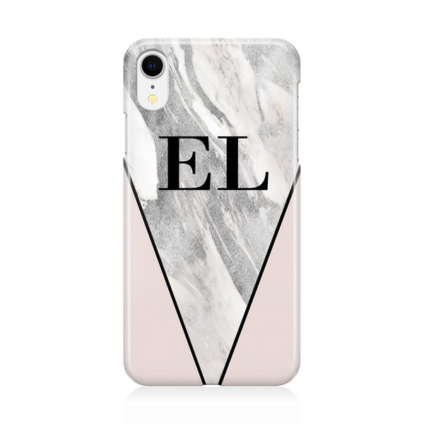 Personalised Pink x Castello Marble Contrast iPhone XR Case