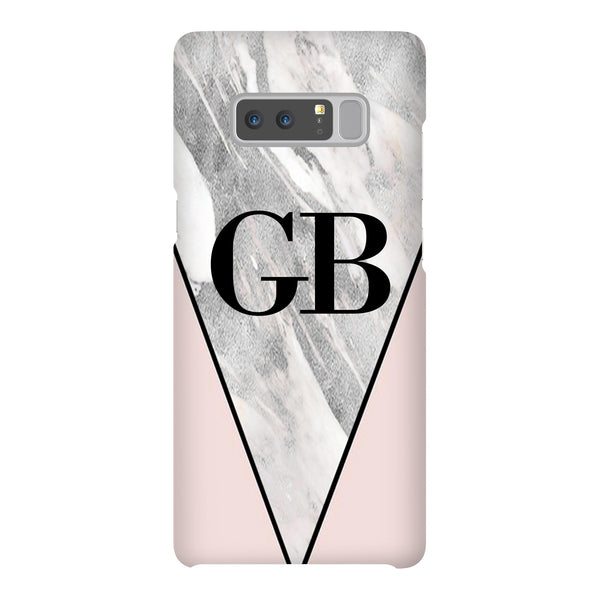 Personalised Pink x Castello Marble Contrast Samsung Galaxy Note 8 Case
