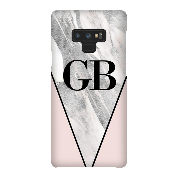 Personalised Pink x Castello Marble Contrast Samsung Galaxy Note 9 Case