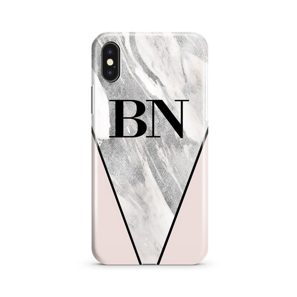 Personalised Pink x Castello Marble Contrast iPhone XS Max Case