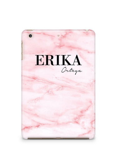 Personalised Cotton Candy Marble Name iPad Case