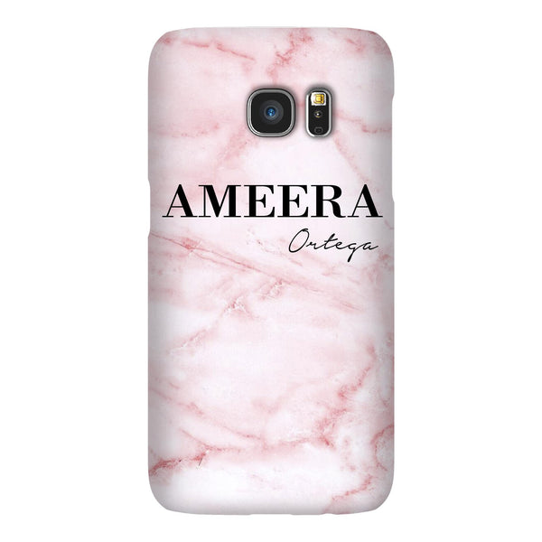Personalised Cotton Candy Marble Name Samsung Galaxy S7 Edge Case