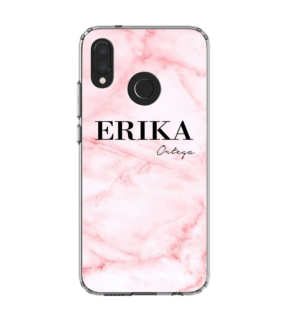 hot sale online 67108 b5491 Personalised Cotton Candy Marble Name Huawei P20 Lite Case