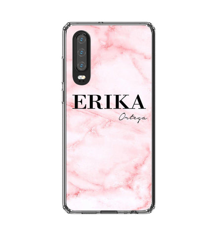 Personalised Cotton Candy Marble Name Huawei P30 Case