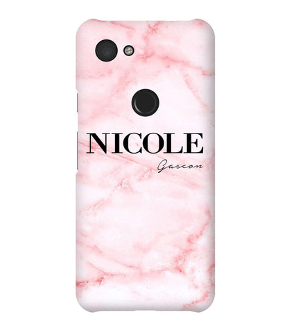 Personalised Cotton Candy Marble Name Google Pixel 3a Case