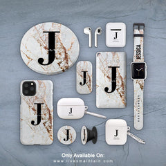 Personalised Cracked Marble Name Initial Phone Case Accessories Package