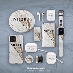 Personalised Cracked Marble Name Phone Case Accessories Package
