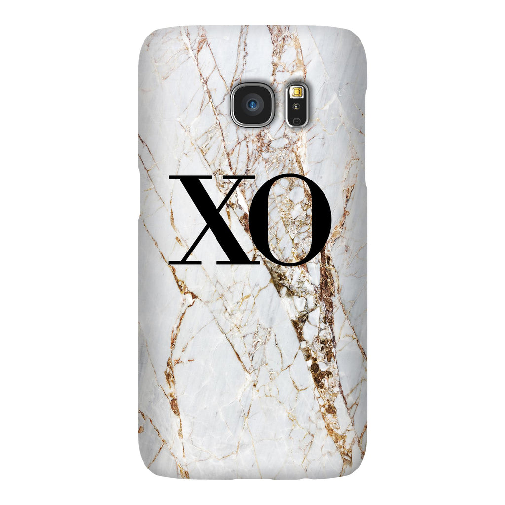 Personalised Cracked Marble Initials Samsung Galaxy S7 Case