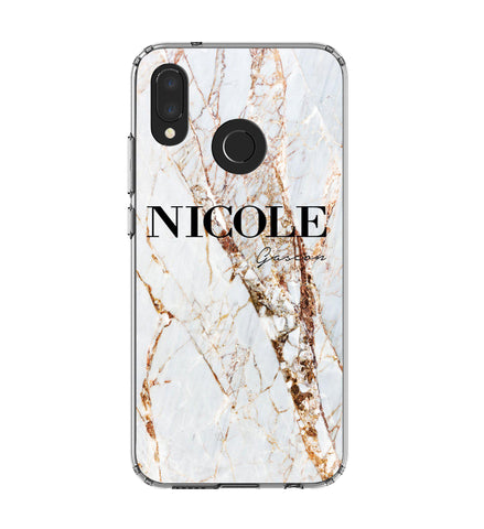 Personalised Cracked Marble Name Huawei P20 Lite Case