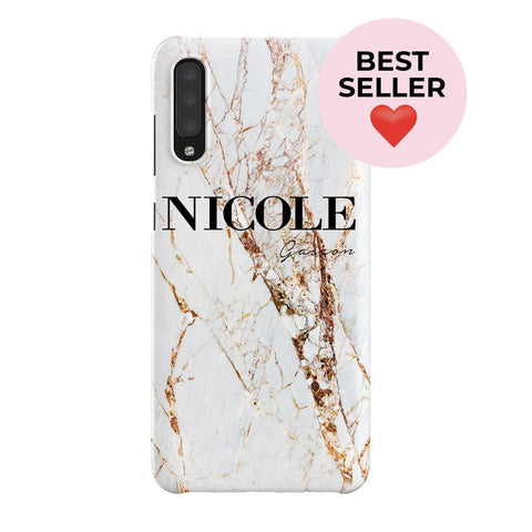 Personalised Cracked Marble Name Samsung Galaxy A70 Case