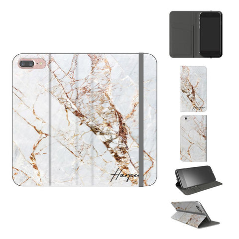 Personalised Cracked Marble Initials iPhone 8 Plus Case