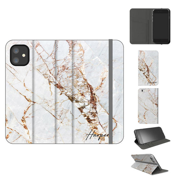 Personalised Cracked Marble Name iPhone 11 Case