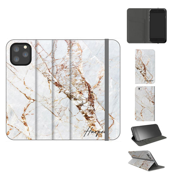 Personalised Cracked Marble Name iPhone 11 Pro Case