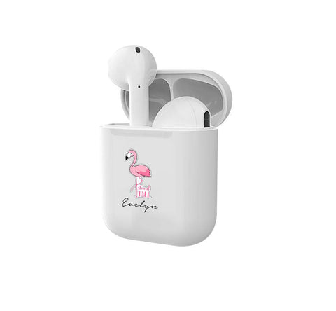 Personalised Flamingo Smart Earbuds