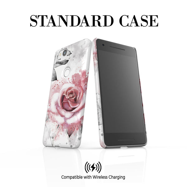 Personalised Floral Rose Initials Google Pixel 2 Case