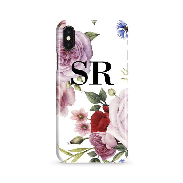 Personalised Floral Blossom Initials iPhone XS Max Case
