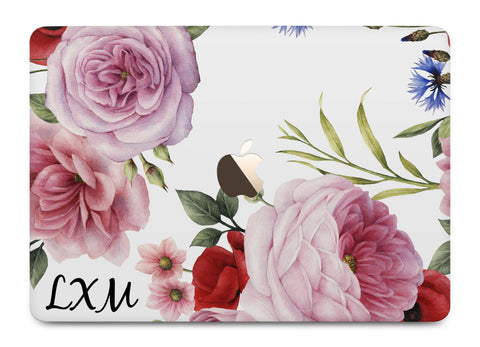 Personalised Floral Blossom Initials MacBook Case