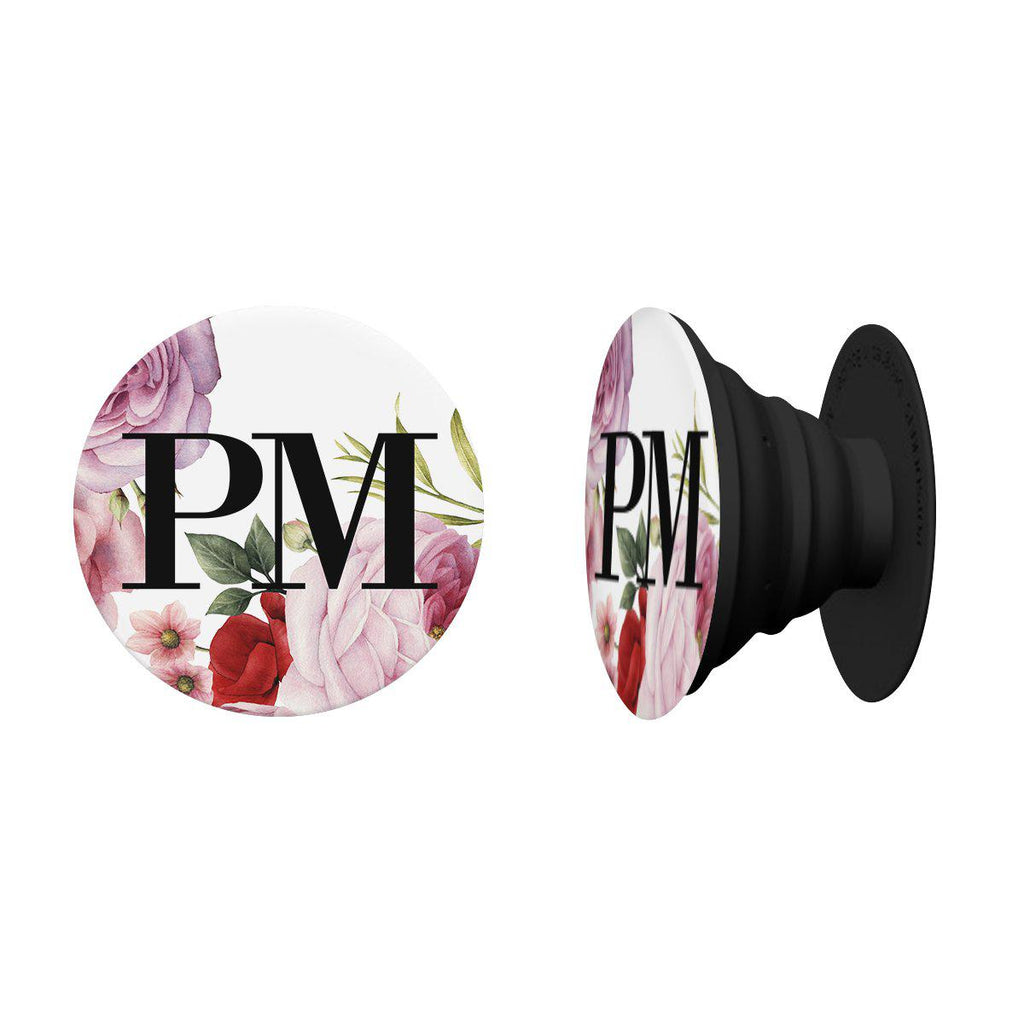 Personalised Floral Blossom Initials Phone Grip