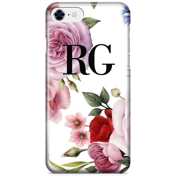 Personalised Floral Blossom Initials iPhone 8 Case