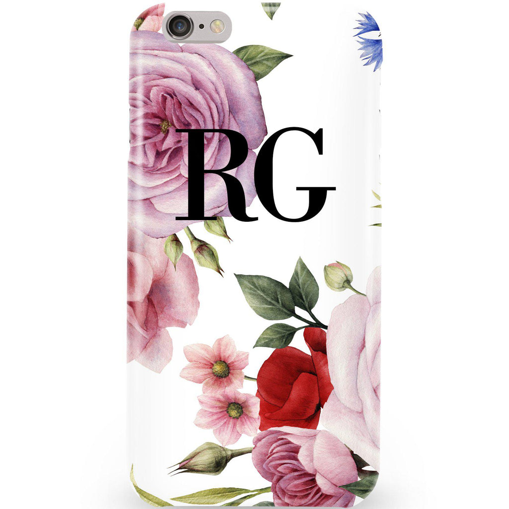 Personalised Floral Blossom Initials iPhone 6 Plus/6s Plus Case