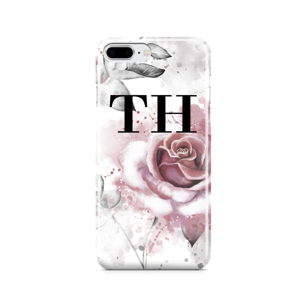 Personalised Floral Rose Initials iPhone 7 Plus Case