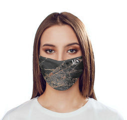Personalised Slate Marble Initials Reusable Face Mask