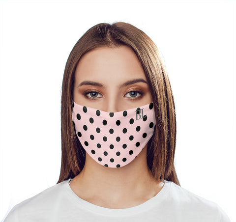 Personalised Bloom Polka Dots Initials Face Mask