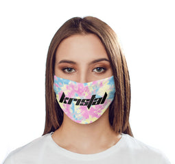 Personalised Multicolor Tie Dye Name Reusable Face Mask