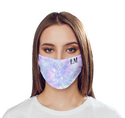 Personalised Blue Tie Dye Name Reusable Face Mask