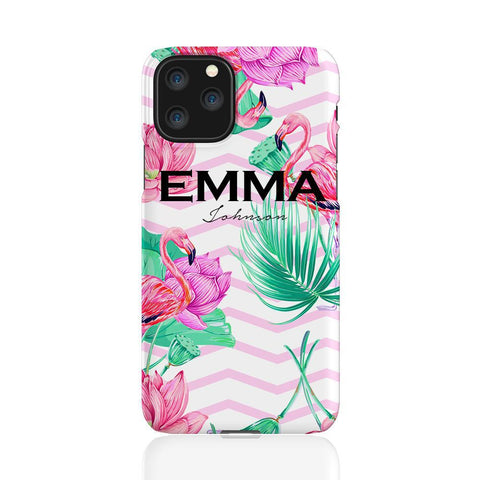 Personalised Flamingo Name iPhone 11 Pro Case