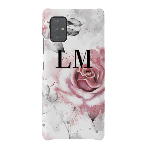 Personalised Floral Rose Initials Samsung Galaxy A51 5G Case