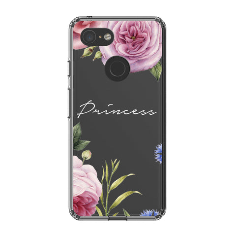 Personalised Clear Floral Blossom Google Pixel 3 XL Case
