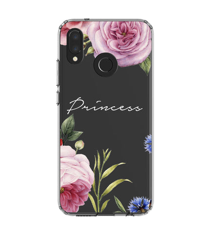 Personalised Clear Floral Blossom Huawei P20 Lite Case