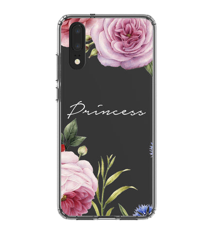 Personalised Clear Floral Blossom Huawei P20 Case