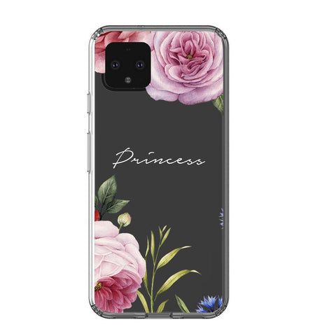 Personalised Clear Floral Blossom Google Pixel 4XL Case
